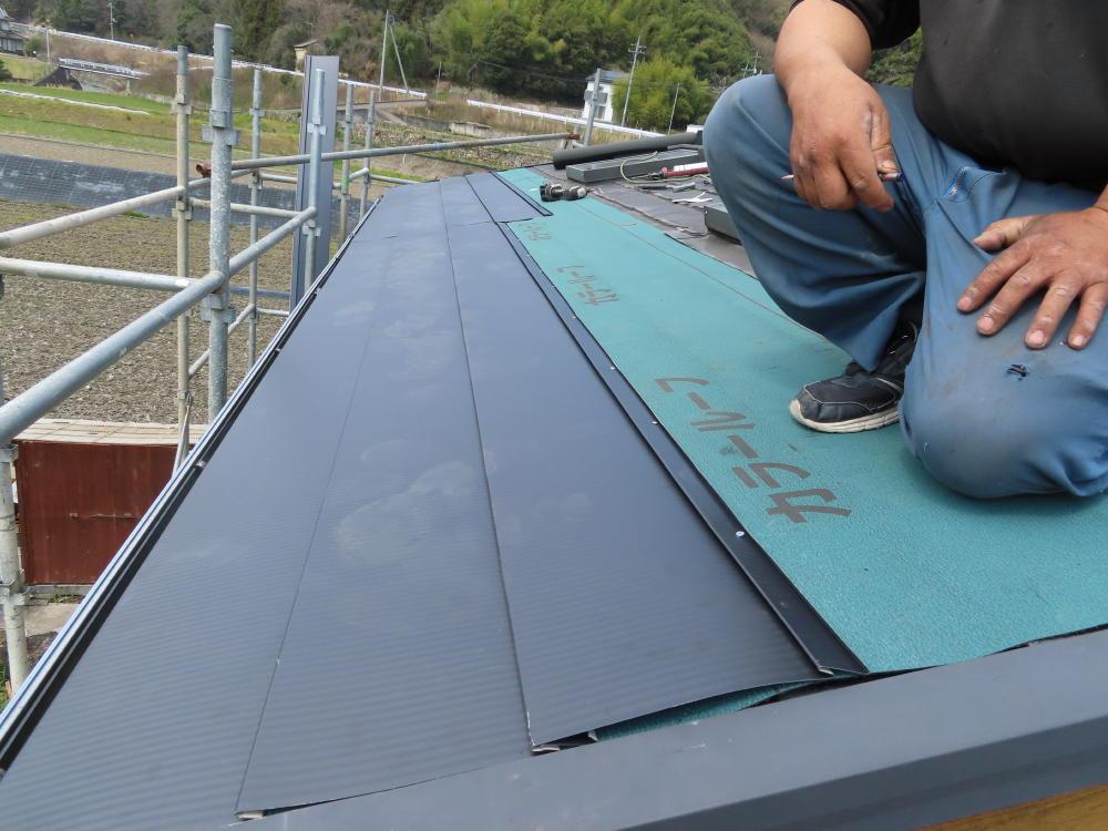 尾道市S様邸 外壁屋根(瓦葺き替え)塗装工事